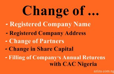 change of company name and filling of company annual returns