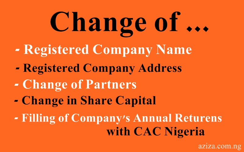 How To Apply For Change Of Company Name In Nigeria With Cac Aziza
