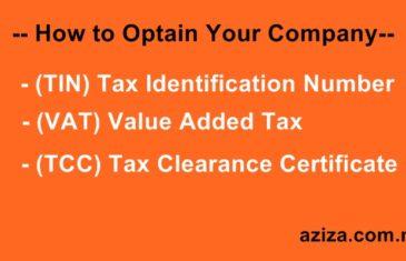 TIN, VAT and TCC in Nigeria