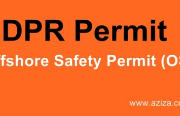 DPR Offshore Safety Permit OSP