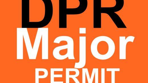 Major DPR permit