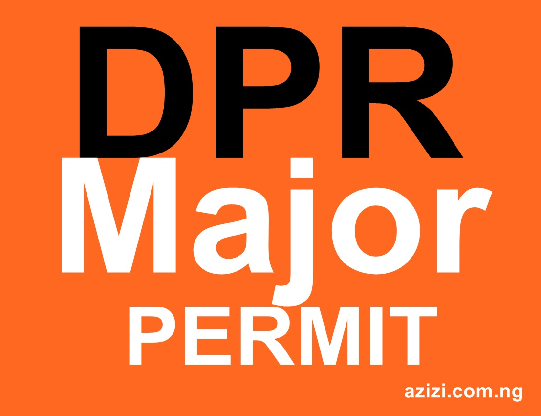 DPR Permit Major Category Application Requirements