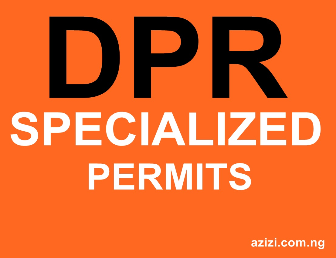 DPR PERMIT SPECIALIZED CATEGORY APPLICATION REQUIRED DOCUMENTS