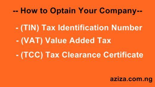 Obtain Value Added tax (VAT) in Nigeria