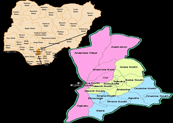Local Government Areas & Head-Quarters in Anambra State