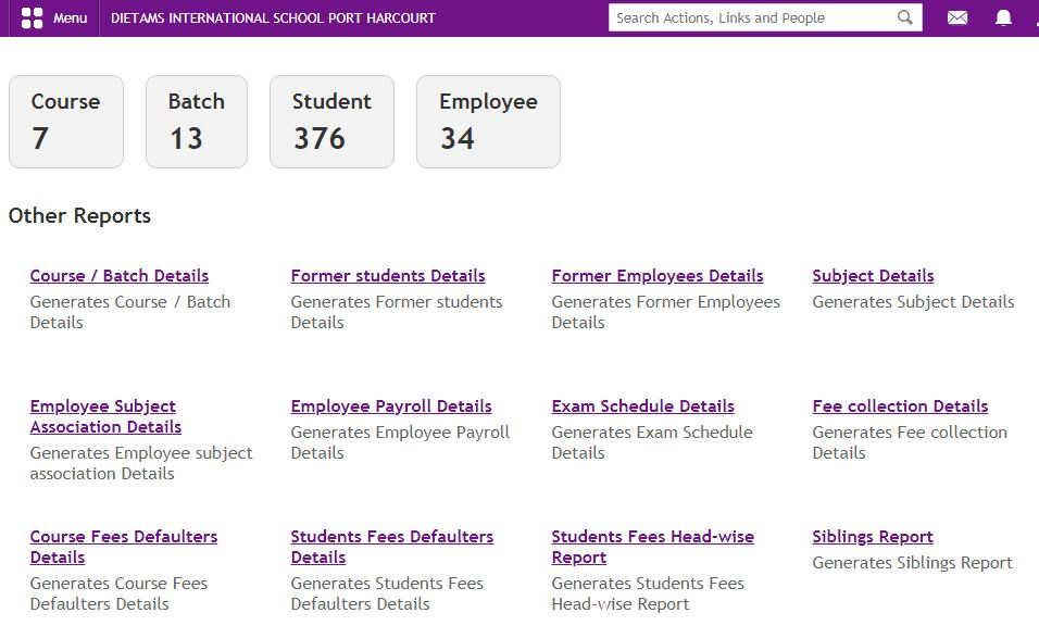 school management software report Nigeria for Schools, Group of Schools & Colleges, Polytechnics and Universities