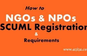 NGOs SCUML ONLINE REGISTRATION