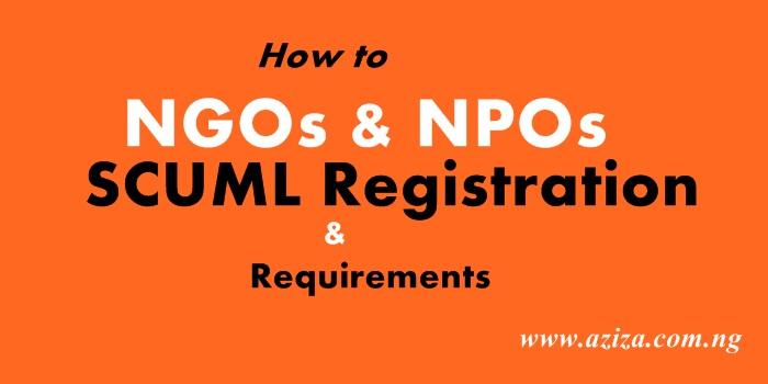 SCUML NGOs & NPOs Registration Requirements