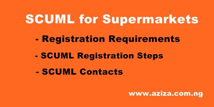 SCUML Registration for Supermarkets