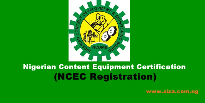 Nigerian Content Equipment Certificate NCEC & Requirements