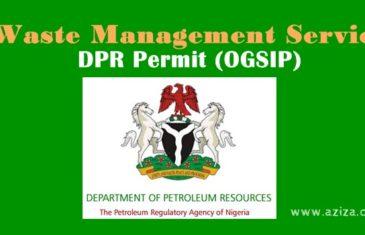 Waste Management Services DPR Permit