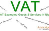 VAT Exempted Goods & Services in Nigeria