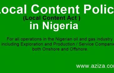 Local Content Policy in Nigeria