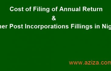 Filing of Annual Return & Other Post Incorporations fillings