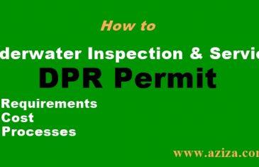 Underwater Inspection Services DPR permit