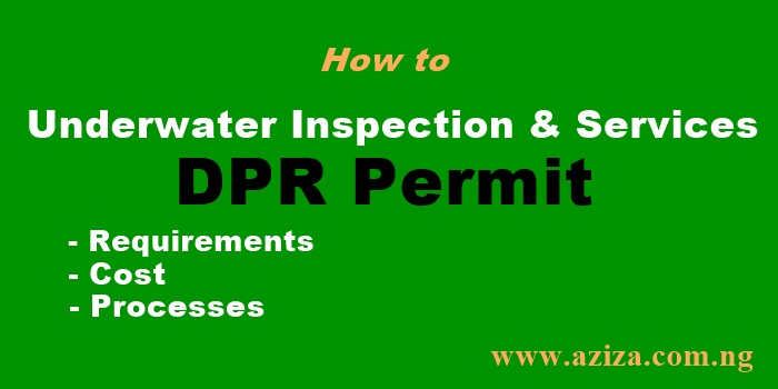 How to Obtain Underwater Inspection & Services DPR Permit