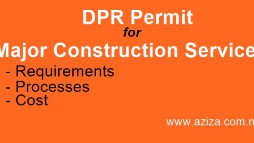 Major Construction Services DPR Permit