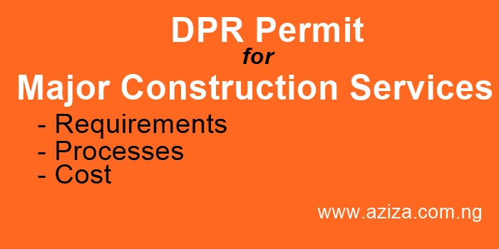 Major Construction Services DPR Permit