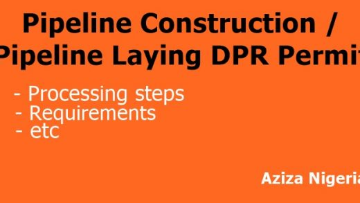 Pipeline Laying DPR Permit