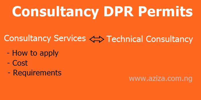 Consultancy & Technical Services DPR Permit