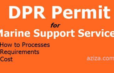 Marine Support Services DPR Permit