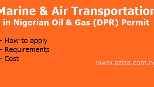Marine and Air Transportation in Oil & Gas (DPR) Permit